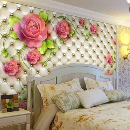 Adesivo de parede 3D flores.
