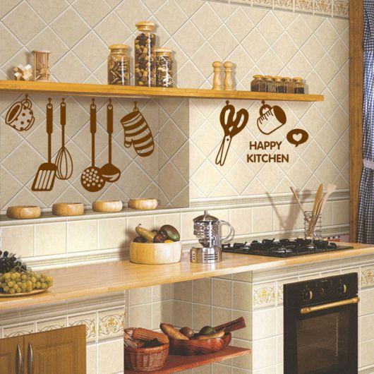 Adesivo de parede 3D cozinha.