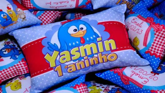 almofada infantil personalizada galinha pintadinha