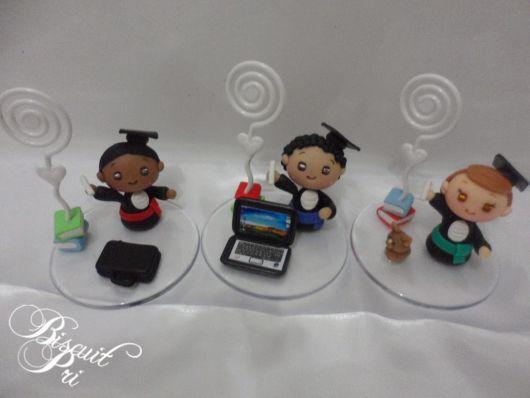 Bonecos de biscuit para formatura.