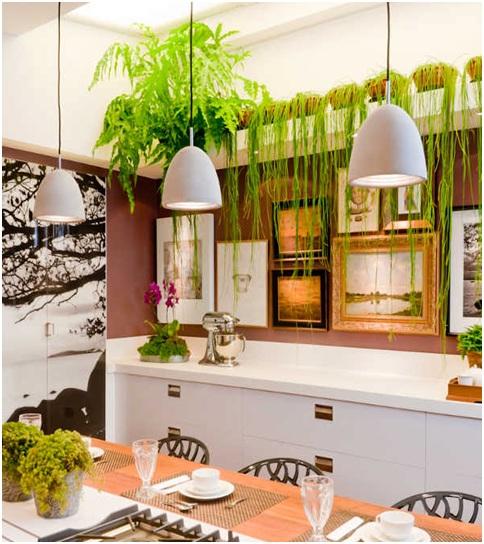 decoração com plantas na cozinha