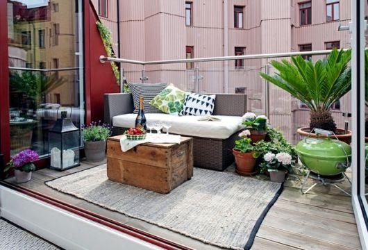 decoração com plantas em varanda pequena