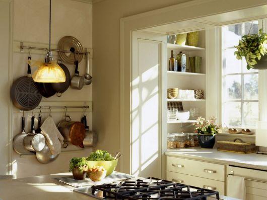 cozinha com decoração com plantas
