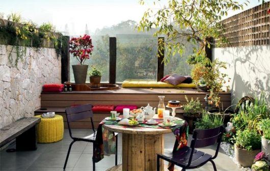 decoração com plantas na varanda