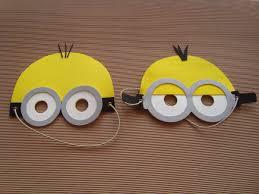 Minions em EVA máscara para festa infantil