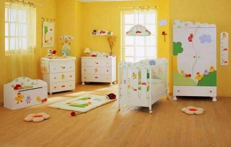 quarto de bebê unissex amarelo