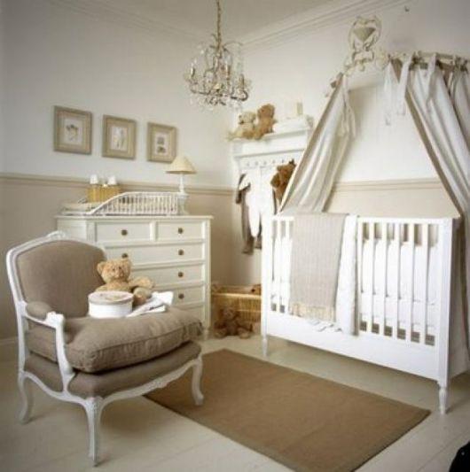 quarto de bebê unissex paredes pérola