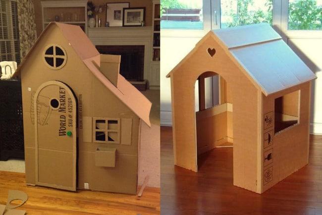 Casinha de boneca de papelão para crianças 1