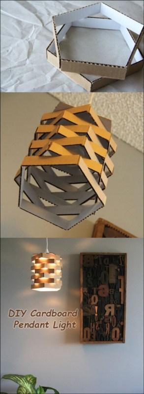 Como fazer luminária pendente de papelão