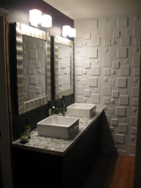 Decoração de parede com papelão