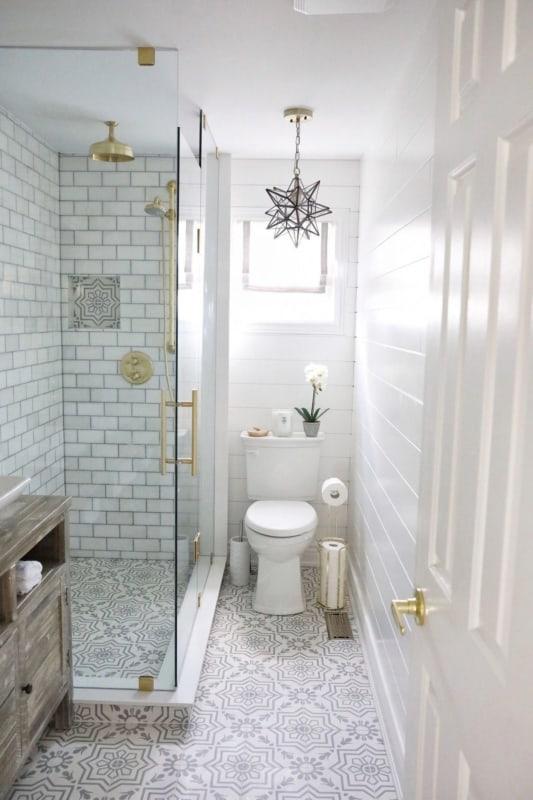 Lustre de estrela para banheiro vintage