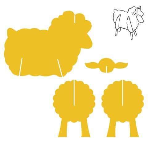 Molde de ovelha de papelão