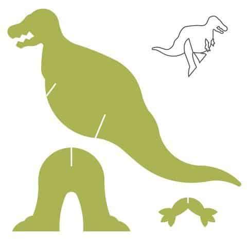 Molde para dinossauro de papelão