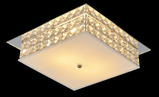 Plafon de cristal quadrado pequeno