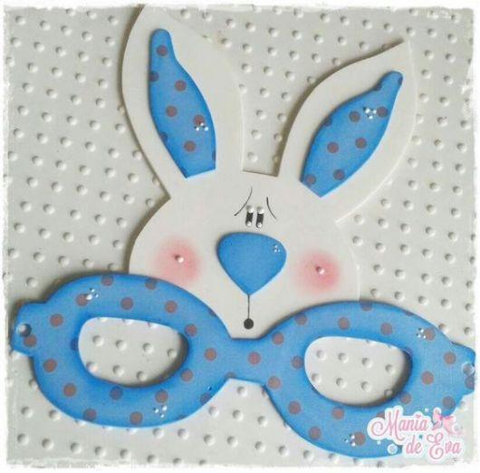 máscara coelho azul