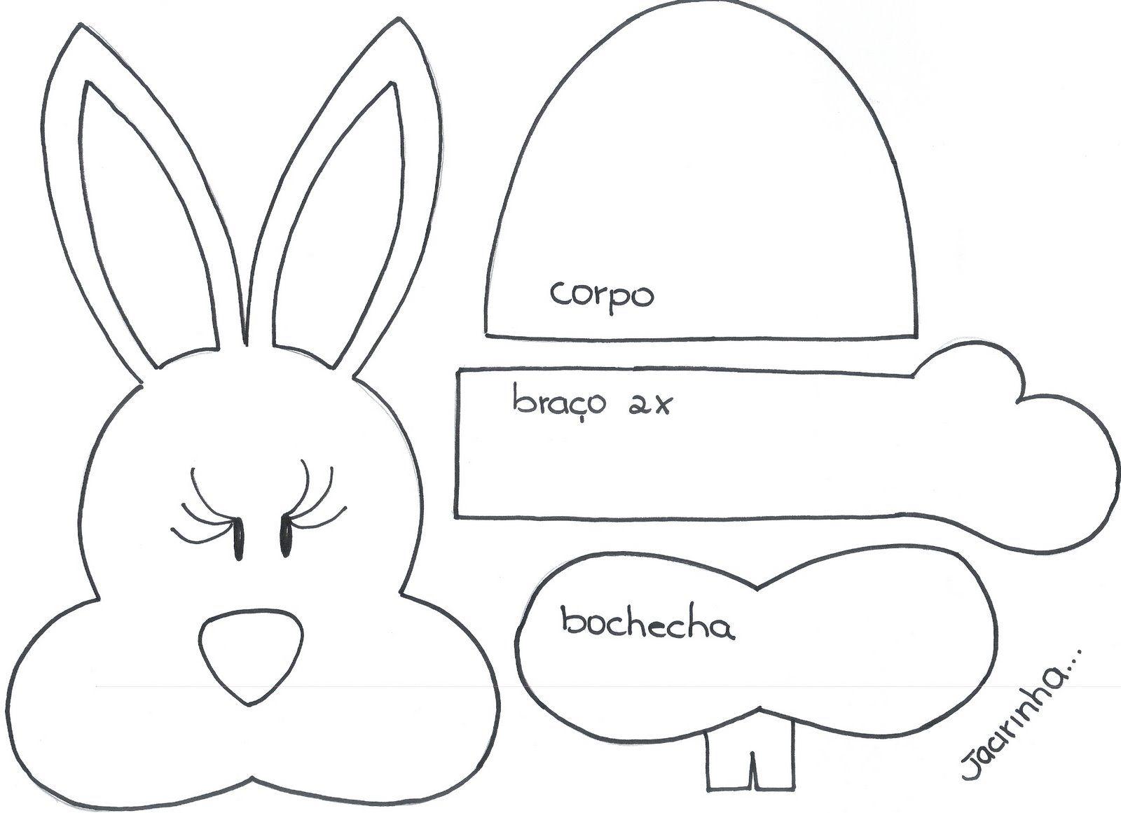 molde de coelho para imprimir grátis