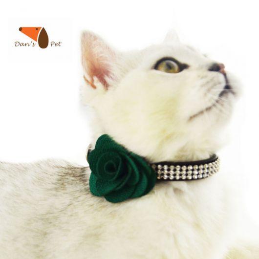 coleira para gatos com strass