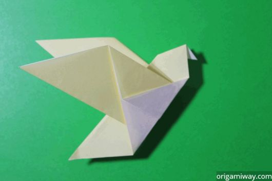 origami de pássaro simples