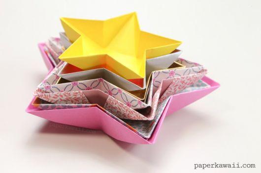 estrela de origami