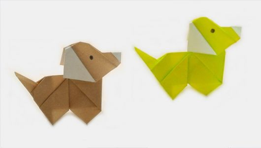 origami de cachorro simples