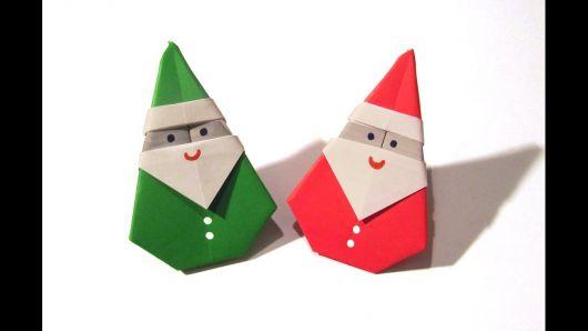 Papai Noel de origami