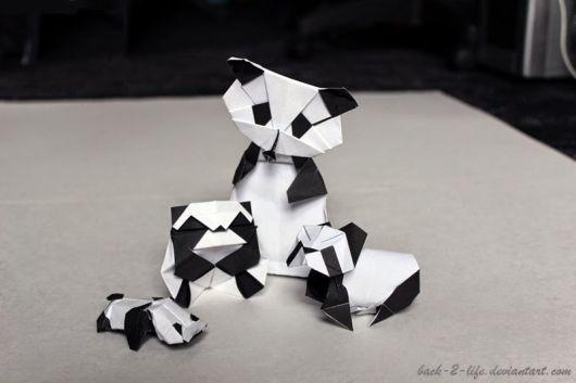 panda de origami