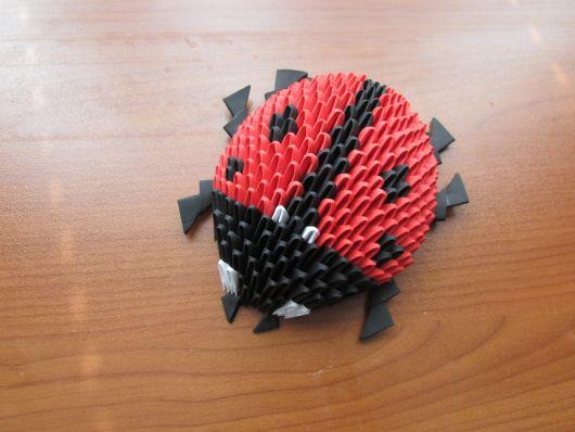 origami de joaninha