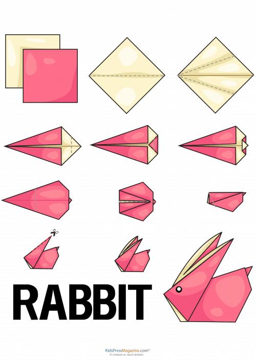 Origami de Coelho fácil