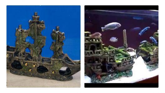Navio para aquário.