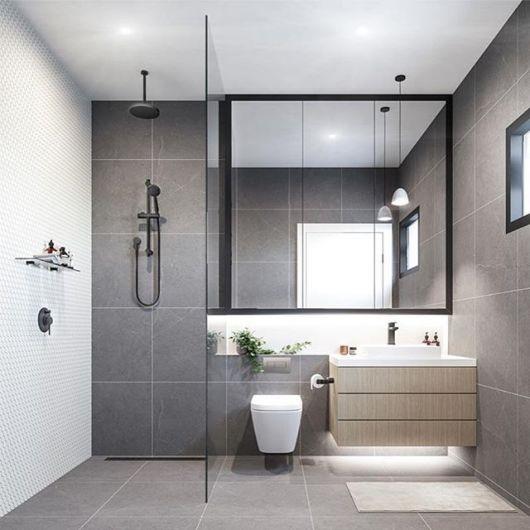 Lustre para banheiro simples.
