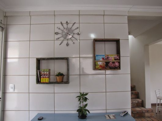 Relógio de parede para cozinha.