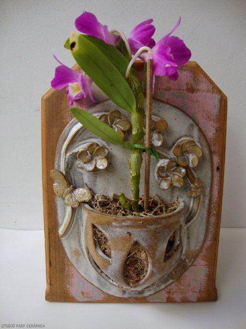vaso para orquídea