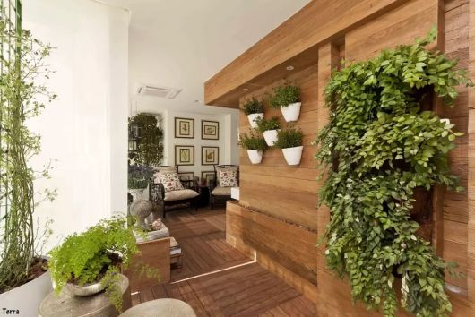 painel de madeira sala