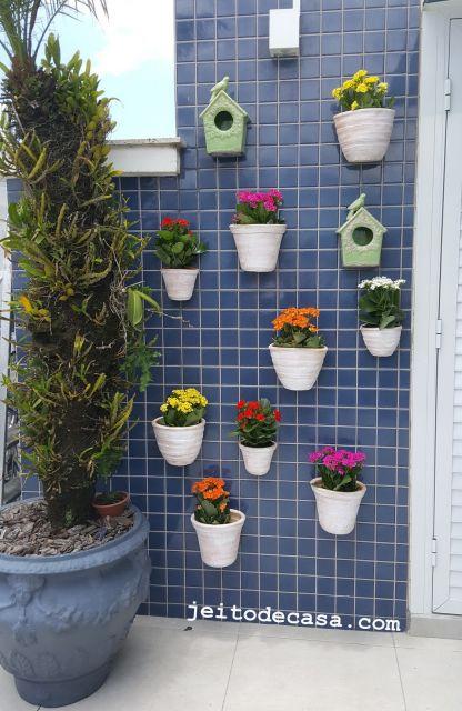 parede com flores