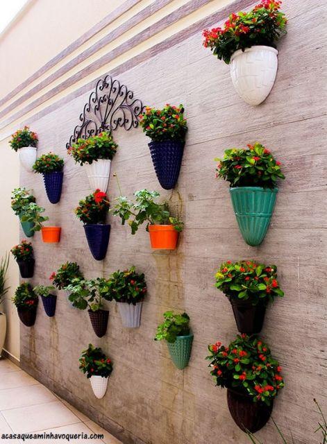 parede de vasos