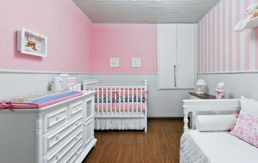 quarto rosa decorado