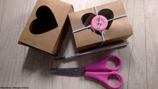 caixa com coração
