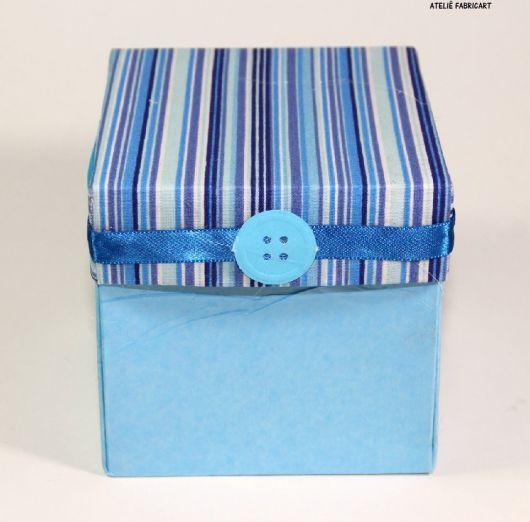 caixa revestida tecido