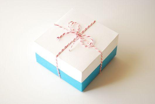caixa simples papel cartão