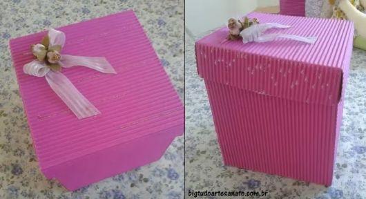 caixinha de papel micro-ondulado