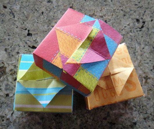 caixinha de origami