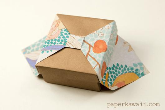 caixa de papel kraft presente