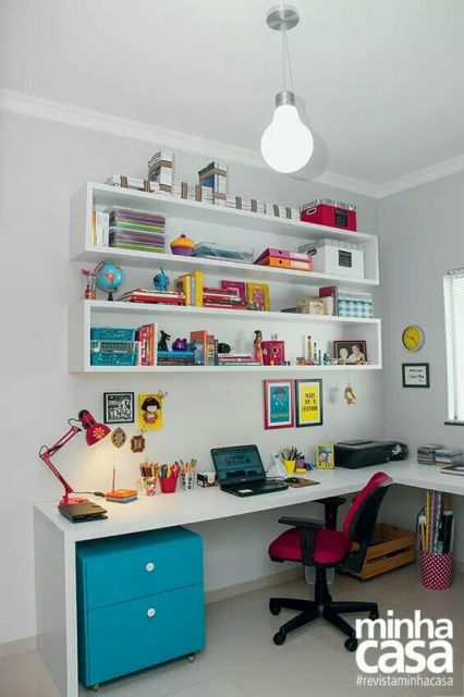 home office colorido