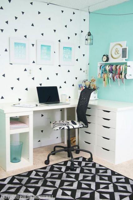 decoração moderna  home office