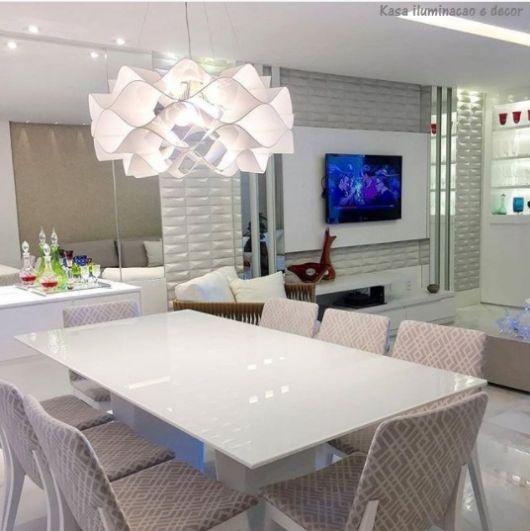 mesa de jantar branca