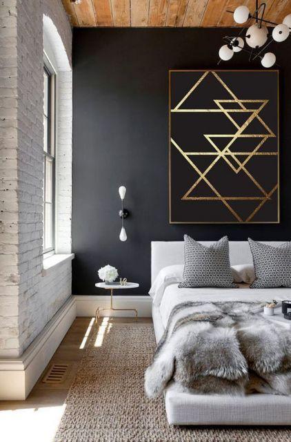 parede preta decoração