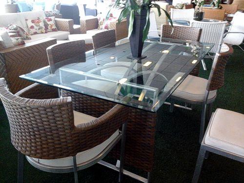 mesas de vime de jantar
