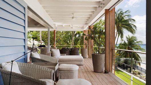 mesas de vime para decorar varanda