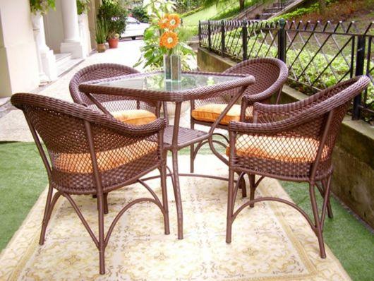 mesas de vime lindas