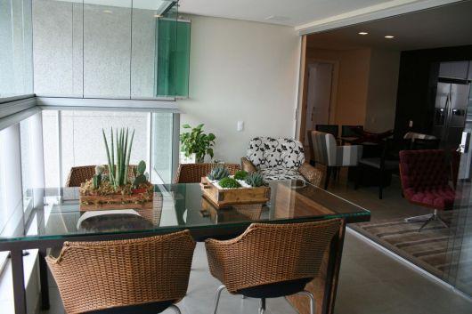 mesas de vime para apartamento